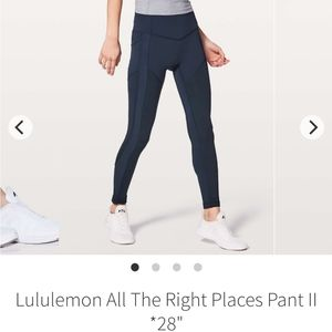 Lululemon all the right places pant leggings